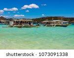 coron palawan philippines april ...   Shutterstock . vector #1073091338