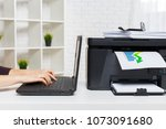 printer in office | Shutterstock . vector #1073091680