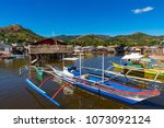 coron palawan philippines april ...   Shutterstock . vector #1073092124