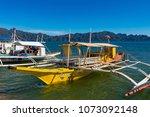 coron palawan philippines april ...   Shutterstock . vector #1073092148