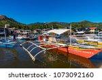 coron palawan philippines april ...   Shutterstock . vector #1073092160