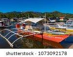coron palawan philippines april ...   Shutterstock . vector #1073092178