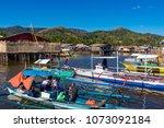 coron palawan philippines april ...   Shutterstock . vector #1073092184