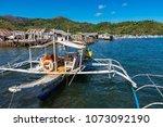 coron palawan philippines april ...   Shutterstock . vector #1073092190