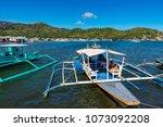 coron palawan philippines april ...   Shutterstock . vector #1073092208