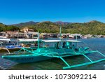 coron palawan philippines april ...   Shutterstock . vector #1073092214