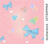 cute seamless pattern with...   Shutterstock .eps vector #1073099969