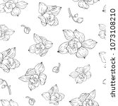 seamless pattern with outline... | Shutterstock .eps vector #1073108210