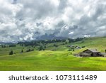 the beautiful hike on the... | Shutterstock . vector #1073111489
