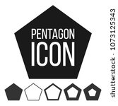 pentagon icon vector. 5 five... | Shutterstock .eps vector #1073125343