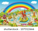 illustration of a fair on... | Shutterstock .eps vector #107312666