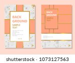 abstract marble poster template ... | Shutterstock .eps vector #1073127563