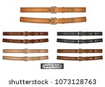 vector. belt leather  natural... | Shutterstock .eps vector #1073128763