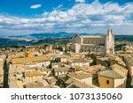 aerial view of orvieto... | Shutterstock . vector #1073135060