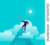 vector flat illustration with... | Shutterstock .eps vector #1073143703