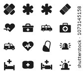 flat vector icon set   first... | Shutterstock .eps vector #1073145158