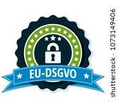 eu dsgvo illustration label | Shutterstock .eps vector #1073149406