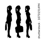 vector silhouette of three...   Shutterstock .eps vector #1073151494