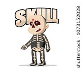 halloween skull character design | Shutterstock .eps vector #1073152028