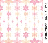 pale pink flowers seamless... | Shutterstock .eps vector #1073158190
