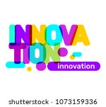 innovation broken text colored... | Shutterstock .eps vector #1073159336
