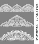 lace  lace napkins a set of...   Shutterstock .eps vector #1073161406
