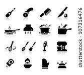 kitchen utensils icons | Shutterstock .eps vector #107316476