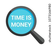 time concept  magnifying... | Shutterstock .eps vector #1073166980