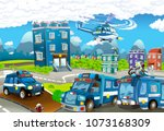 cartoon stage with different... | Shutterstock . vector #1073168309