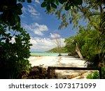 seychelles   praslin island  ... | Shutterstock . vector #1073171099