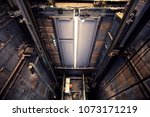 heavy equipment of lift hole in ... | Shutterstock . vector #1073171219