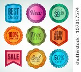 set of labels and stickers | Shutterstock .eps vector #107317574
