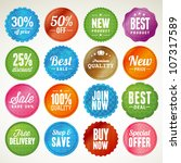 set of badges and stickers | Shutterstock .eps vector #107317589