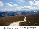 cairngorm mountains on the... | Shutterstock . vector #1073176949