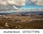 cairngorm mountains on the... | Shutterstock . vector #1073177396