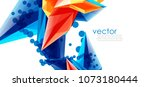 vector color glass crystals on... | Shutterstock .eps vector #1073180444