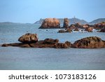 typical brittany coast at  the... | Shutterstock . vector #1073183126