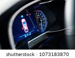 car dashboard display | Shutterstock . vector #1073183870