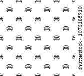 pattern with black icons of car | Shutterstock .eps vector #1073185910