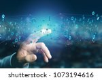 view of a network connection of ... | Shutterstock . vector #1073194616