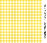 A Pastel Yellow Gingham Fabric...