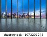 Empty Window With City Skyline
