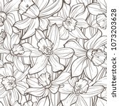 seamless floral pattern on... | Shutterstock .eps vector #1073203628