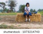 asian student in uniform...   Shutterstock . vector #1073214743