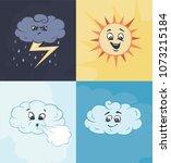 weather characters in vector | Shutterstock .eps vector #1073215184
