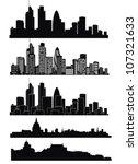 vector of london skyline | Shutterstock .eps vector #107321633
