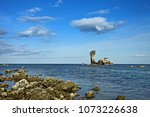 yai ai bay is located at pathew ... | Shutterstock . vector #1073226638