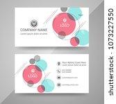 business card template | Shutterstock .eps vector #1073227550