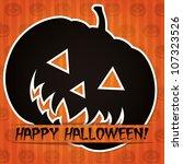'happy halloween' sticker card... | Shutterstock .eps vector #107323526