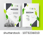 flyer brochure design template  ... | Shutterstock .eps vector #1073236010
